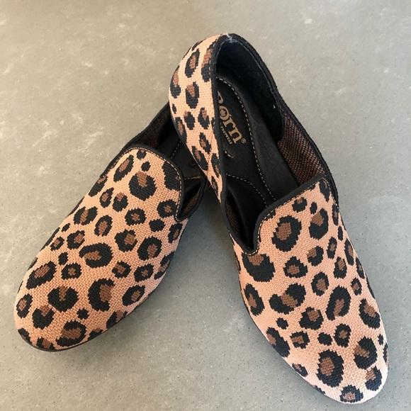 Bhangra Light Brown Leopard Print Flats